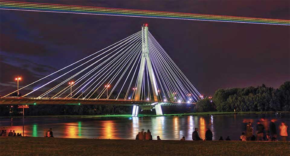 West from Vistula_Swietokrzyski Bridge