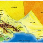 kaart Marokko/ onderdeel multimediale presentatie