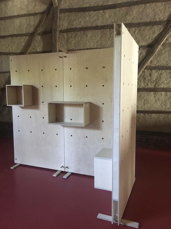 dubbelzijdig modulair wandsysteem